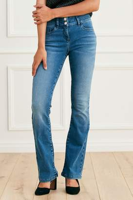 Next Womens Mid Blue Lift, Slim And Shape Boot Cut Jeans - Blue