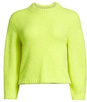Tibi Women's Cozette Neon Alpaca-Blend Sweater