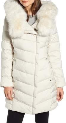 Bernardo Oversized Faux Fur Hood Puffer Coat