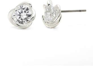 JCPenney SPARKLE ALLURE Sparkle Allure Cubic Zirconia Silver-Plated Brass Swirl Stud Earrings