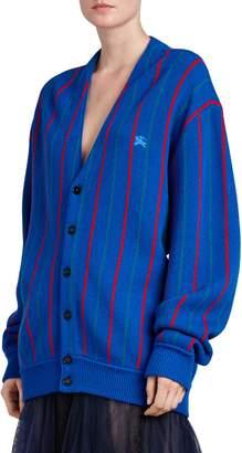 Burberry Reissued Stripe Wool Cardigan