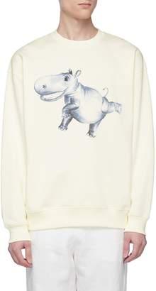 Acne Studios Hippo graphic print sweatshirt