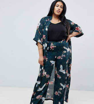 Club L Plus Wide Leg Printed Pants