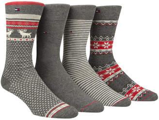 Tommy Hilfiger Men's 4-Pk. Fair Isle Crew Socks
