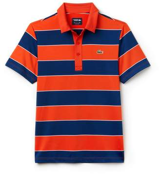 Lacoste Men's SPORT Striped Stretch Jersey Golf Polo