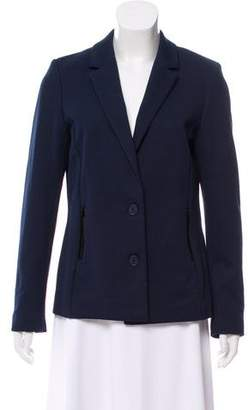 Lacoste Patent Leather- Accented Notch-Lapel Blazer