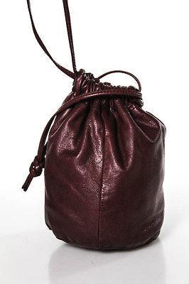 Bottega VenetaBottega Veneta Red Leather Tie Closure 1 Pocket Bucket Size Small