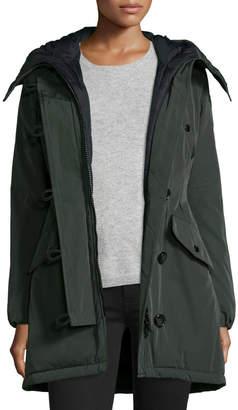 Moncler Aredhel Hooded Down Fur-Trim Jacket