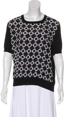 Salvatore Ferragamo Printed Knit Top
