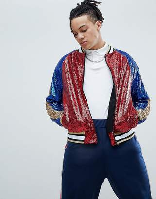 Jaded London Sequin Bomber Jacket