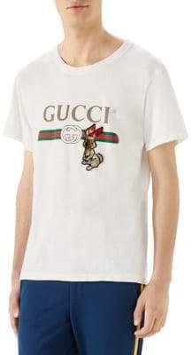 Gucci Cotton Logo Rabbit Tee