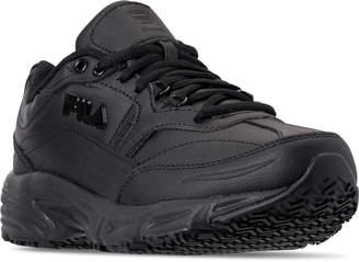Fila Men's Memory Workshift Slip Resistant Wide Width Casual Shoes