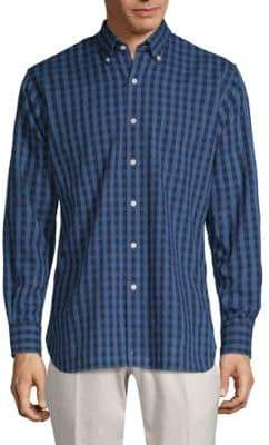 Peter Millar Portage Gingham Cotton Button-Down Shirt