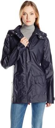 Ilse Jacobsen Women's Zip Front Hooded Raincoat