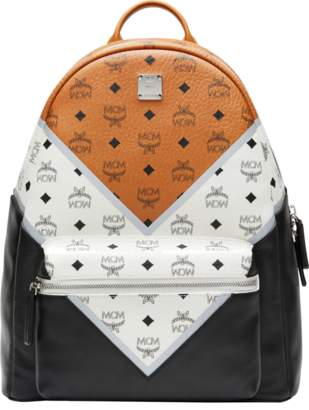 MCM Stark Chevron Backpack In Visetos Colorblock Leather