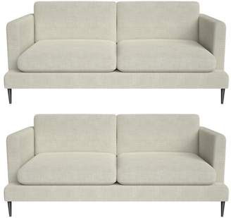 J by Jasper Conran Set Of Two 2 Seater Brushed Cotton 'Ellsworth' Sofas