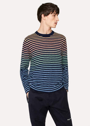 Paul Smith Men's Multi-Colour Gradient Stripe Sweater
