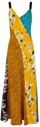 Diane von Furstenberg Contrast-print Panelled Silk Maxi Dress