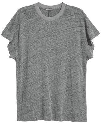 H&M T-shirt with Cut-off Sleeves - Gray