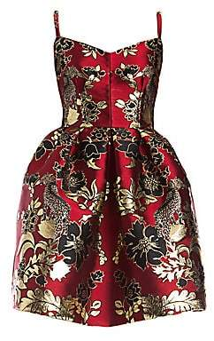 Dolce & Gabbana Dolce& Gabbana Dolce& Gabbana Women's Sleeveless Jacquard Full Skirt Dress