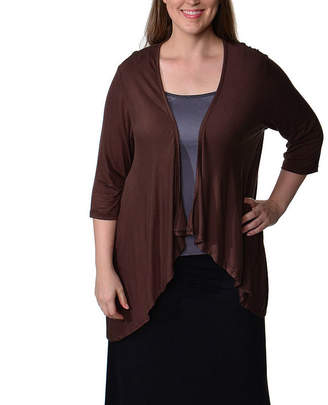 24/7 Comfort Apparel Open Shrug Womens Cardigan-Plus