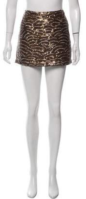 Gryphon Sequin-Embellished Mini Skirt