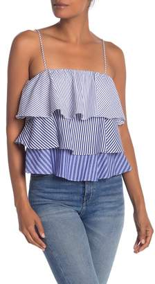 Do & Be Do + Be Striped Tiered Layered Top