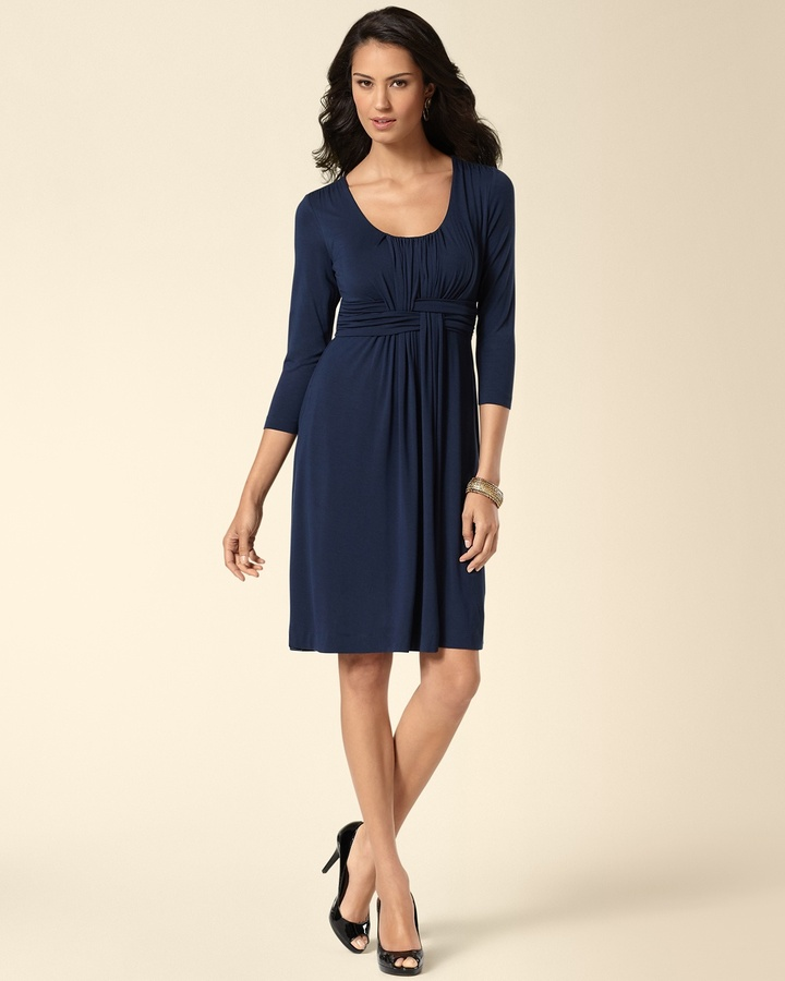 Soma Intimates Wrapped Waist Dress Navybound
