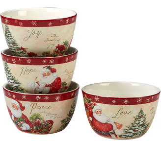 Certified International Holiday Wishes Set Of 4 Ice Cream Bowl