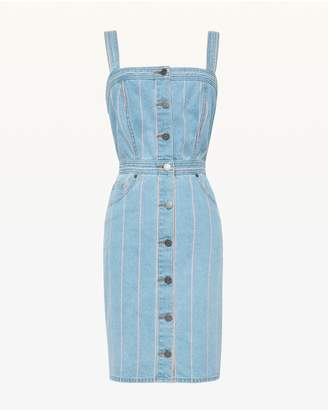 Juicy Couture Pinstripe Denim Dress