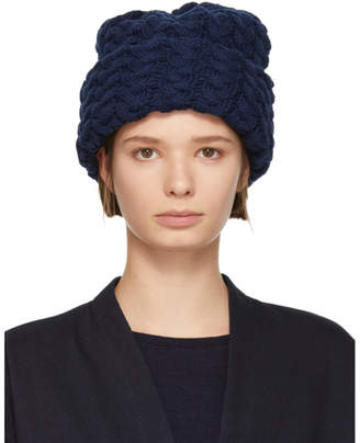 Blue Blue Japan Navy Plump Knit Beanie
