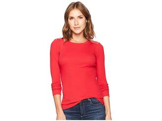 Lauren Ralph Lauren Zipper-Trim Cotton-Blend Top