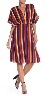Ali & Jay V-Neck Stripe Print Dress