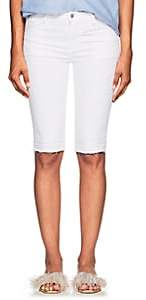 J Brand Women's 811 Bermuda Mid-Rise Denim Shorts - White