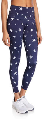 Onzie 4th of July Star-Print High Basic Midi Leggings