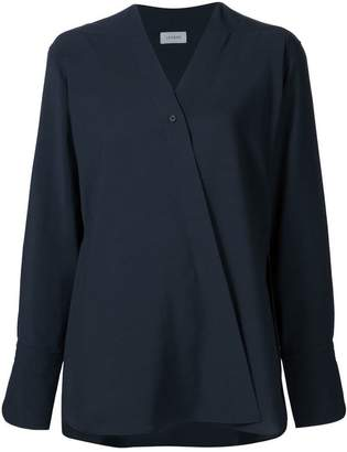 Lemaire fold-over front blouse