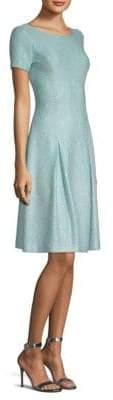 St. John Sparkle-Knit A-Line Dress