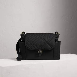 Burberry Check-quilted Baby Changing Shoulder Bag, Black