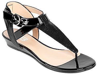 JCPenney 9 & Co.® Strata T-Strap Thong Sandals