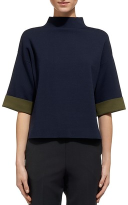 Whistles Funnel Neck Top $180 thestylecure.com