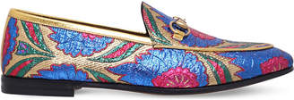 Gucci New Jordaan embroidered jacquard loafers
