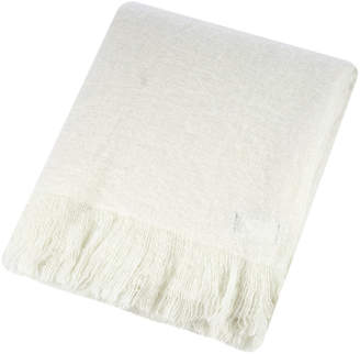 A By Amara A by Amara - Mohair Feel Throw - Ivory