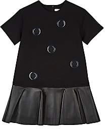 DINUI Grommet-Embellished Ponte & Leather Dress - Black