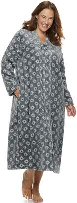 Croft & Barrow Plus Size Plush Zip Robe