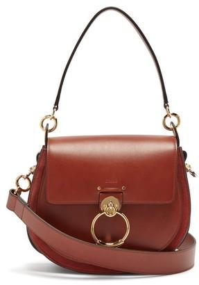 Chloé Tess Large Leather Cross Body Bag - Womens - Dark Brown