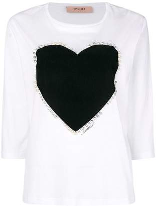 Twin-Set heart patch top