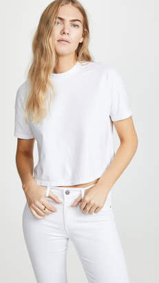 AG Jeans Drew Dropped Shoulder Crop Tee