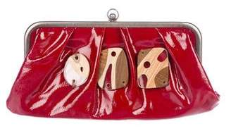 Marni Embellished Patent Leather Kiss-Lock Clutch