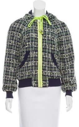 Milly Tweed Zip-Up Jacket