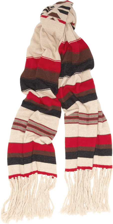 Sandro Azteque intarsia knitted scarf